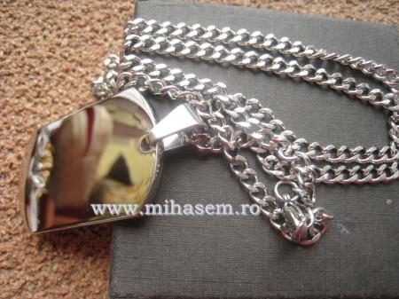 Lant +medalion  INOX  ( otel inoxidabil ) cod mihasem318
