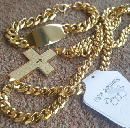 Lant +medalion +brataraINOX placat ( otel inoxidabil ) cod mihasem662