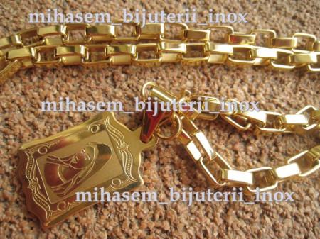 Lant +medalion INOX  ( otel inoxidabil ) cod mihasem020