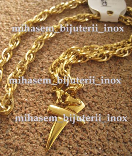 Lant +medalion INOX  ( otel inoxidabil ) cod mihasem024
