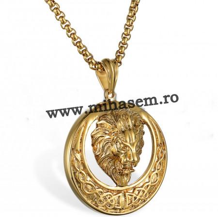 Lant +medalion INOX placat ( otel inoxidabil ) cod mihasem707