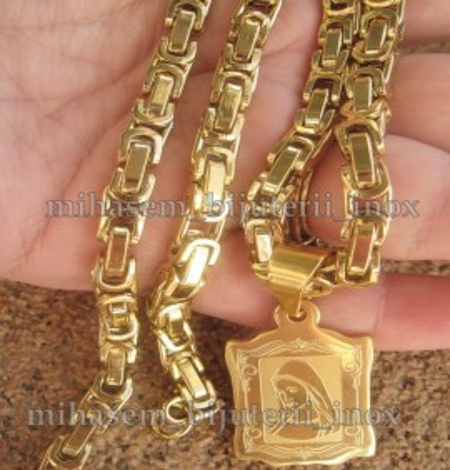 Poze Lant +medalion inox ( otel inoxidabil ) cod mihasem025