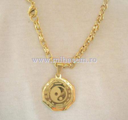 Lant  +medalion  INOX  placat  ( otel inoxidabil ) cod mihasem376