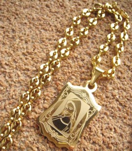 Lant   +medalion INOX  placat ( otel inoxidabil ) cod mihasem448