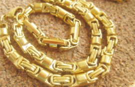 Lant +medalion INOX placat ( otel inoxidabil ) cod mihasem578