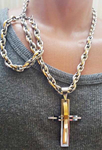 Lant +medalion +bratara INOX placat ( otel inoxidabil ) cod mihasem361