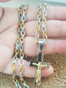 Lant +medalion INOX ( otel inoxidabil ) cod mihasem384