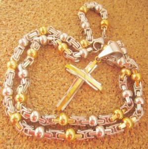 Lant   + medalion INOX placat  ( otel inoxidabil ) cod mihasem593
