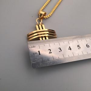 Lant +medalion   INOX placat ( otel inoxidabil ) cod mihasem664
