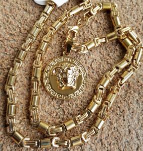 Lant +medalion INOX placat ( otel inoxidabil ) cod mihasem724