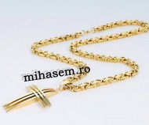 Lant +medalion INOX placat ( otel inoxidabil ) cod mihasem725