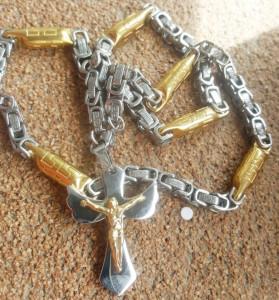 Lant +medalion INOX placat ( otel inoxidabil ) cod mihasem743