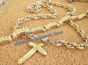 SET Lant +medalion +bratara INOX placat cod mihasem439