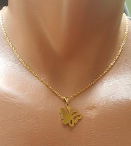 Lant dama +medalion INOX ( otel inoxidabil ) cod mihasem633