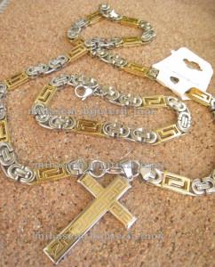 Lant +medalion +bratara INOX ( otel inoxidabil ) cod mihasem101