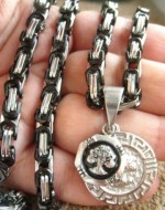 Lant +medalion INOX ( otel inoxidabil ) cod mihasem596