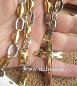 Lant +medalion  INOX  placat  ( otel inoxidabil ) cod mihasem378