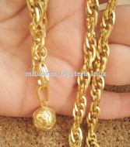 Lant +medalion INOX placat ( otel inoxidabil ) cod mihasem383