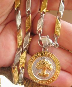 Lant +medalion INOX  placat  ( otel inoxidabil ) cod mihasem537