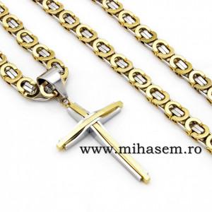 Lant +medalion INOX placat ( otel inoxidabil ) cod mihasem553