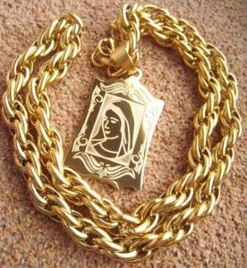 Lant   +medalion  INOX  placat( otel inoxidabil ) cod mihasem677