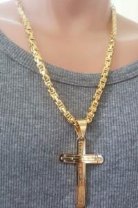 Lant +medalion INOX placat( otel inoxidabil ) cod mihasem678