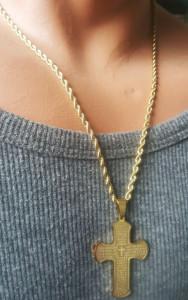 Lant +medalion INOX placat ( otel inoxidabil ) cod mihasem698