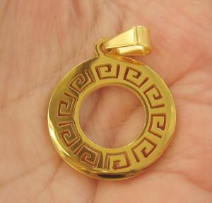 Medalion  INOX  placat  ( otel inoxidabil ) cod mihasem359