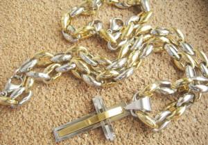 SET Lant   +medalion +bratara INOX  placat ( otel inoxidabil ) cod mihasem515