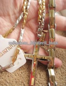 Lant +medalion + bratara INOX  ( otel inoxidabil ) cod mihasem396
