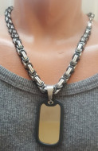 Lant +medalion INOX ( otel inoxidabil ) cod mihasem485