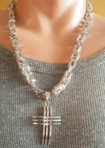 Lant +medalion INOX ( otel inoxidabil ) cod mihasem729