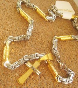 Lant +medalion INOX placat ( otel inoxidabil ) cod mihasem585