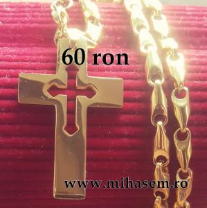 Lant +medalion INOX placat ( otel inoxidabil ) cod mihasem641