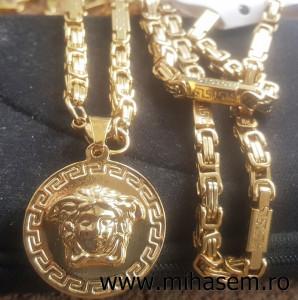 Lant+medalion INOX placat ( otel inoxidabil ) cod mihasem652