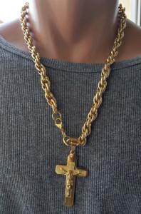 Lant +medalion INOX placat ( otel inoxidabil ) cod mihasem750
