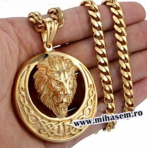 Lant +medalion INOX placat ( otel inoxidabil ) cod mihasem777