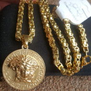 Lant +medalion INOX placat ( otel inoxidabil ) cod mihasem786