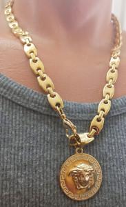 Lant +medalion INOX placat ( otel inoxidabil ) cod mihasem819