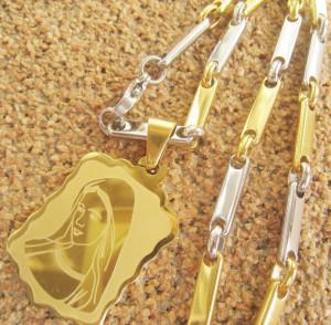 Lant +medalion INOX  ( otel inoxidabil ) cod mihasem206