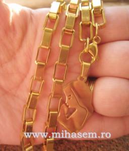 Lant +medalion  INOX placat cod mihasem348