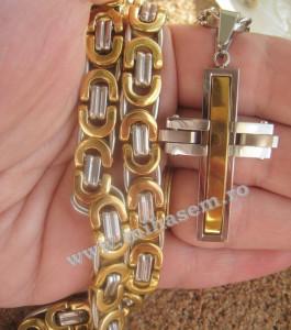 Lant +medalion INOX placat ( otel inoxidabil ) cod mihasem184