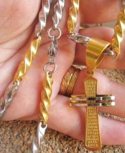 Lant +medalion INOX  placat  ( otel inoxidabil ) cod mihasem549