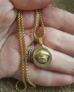 Lant +medalion INOX placat ( otel inoxidabil ) cod mihasem639