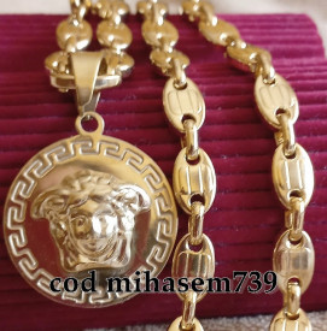 Lant +medalion INOX placat ( otel inoxidabil ) cod mihasem739