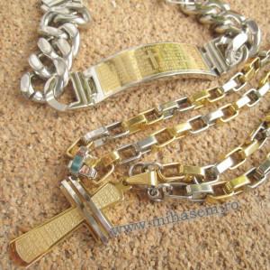 SET Lant +medalion+bratara INOX  ( otel inoxidabil ) cod mihasem456