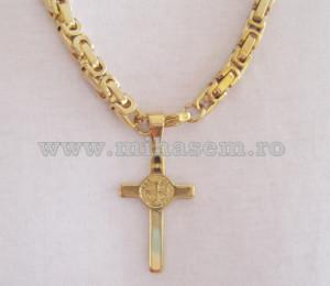SET Lant +medalion +bratara INOX placat cod mihasem161