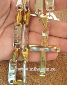 SET Lant +medalion + bratara INOX placat ( otel inoxidabil ) cod mihasem338