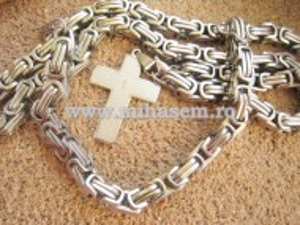 SET lant  +medalion +bratara INOX   placat ( otel inoxidabil ) cod mihasem453