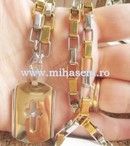 Lant +medalion  INOX placat cod mihasem367